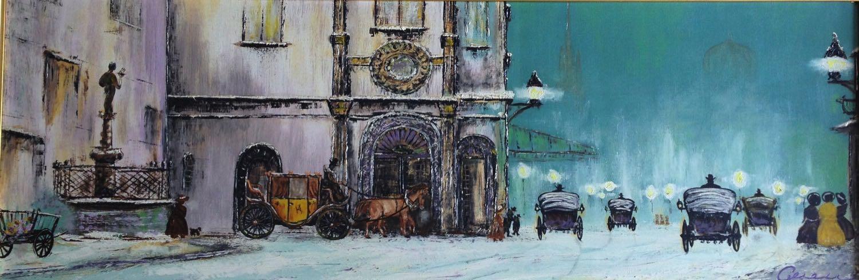Gemälde von meinem Opa Arno Alsen Wien am Hl. Abend